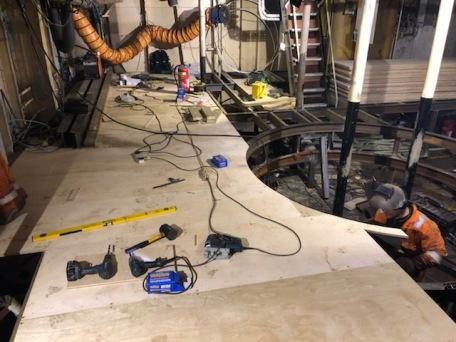 Engine room floor being fitted - Nov 2018 (9)