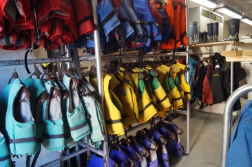 The store includes a dehumidifying system to get gear dry after a splashy or rainy sail.